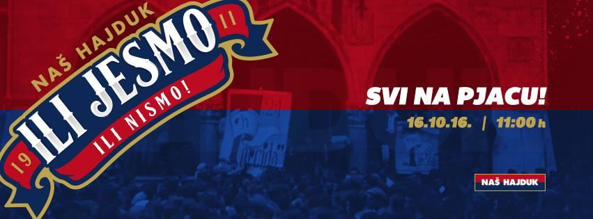 SNIMKA S PJACE: Povijesni dan za navijače Hajduka (FOTO/VIDEO)