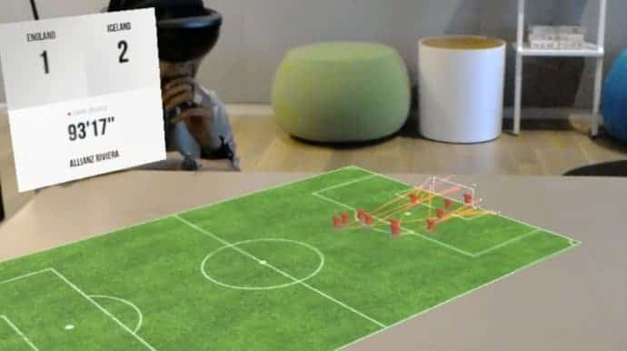 Nogometna utakmica i statistika u 3D tehnologiji na vašem stolu