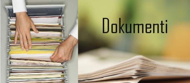 Nadopunjen dio stranice posvećen dokumentima