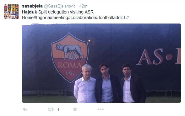Delegacija Hajduka posjetila Romu