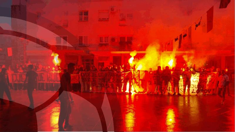 FOTO/VIDEO: Torcida u Metkoviću poslala poruku MOST-u