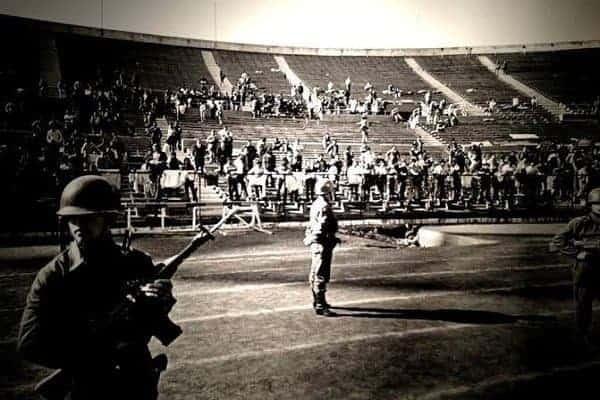 Stadion pretvoren u logor