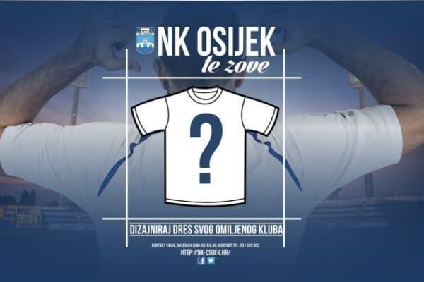 Osijek pozvao navijače da im dizajniraju novi dres