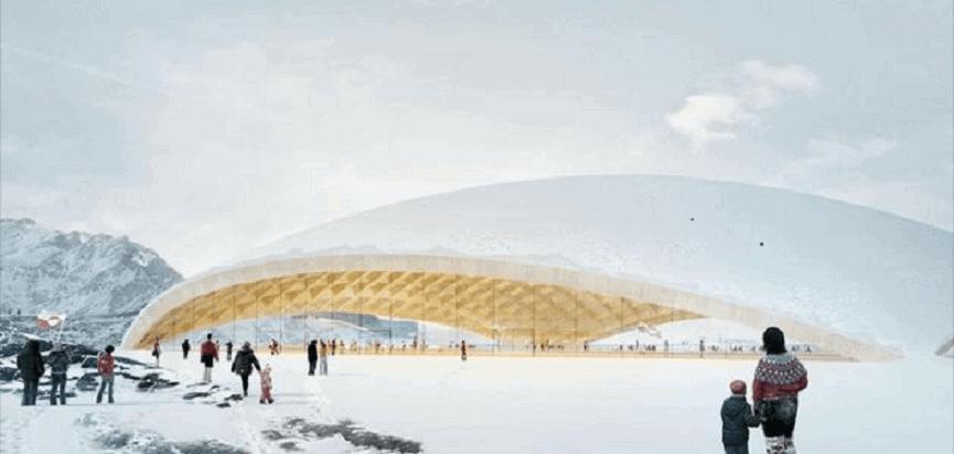 Futuristički stadion na Grenlandu