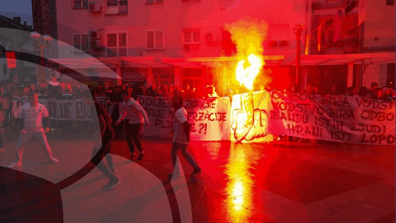 Pripadnici Torcide na ispitivanju zbog neprijavljenog javnog okupljanja u Metkoviću