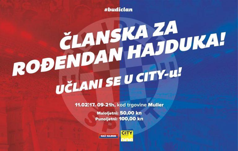 Naš Hajduk, članstvo, City Centre One