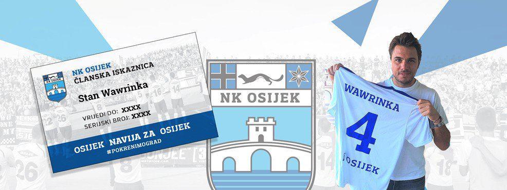 Stan Wawrinka se učlanio u NK Osijek