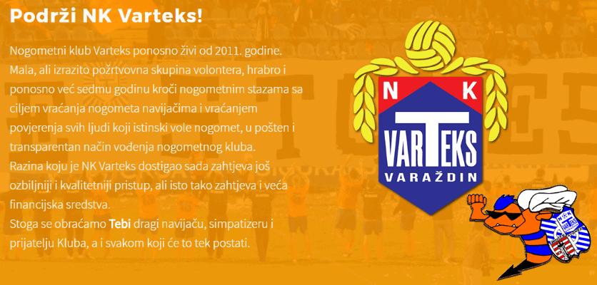 NK Varteks pokrenuo donatorsku kampanju