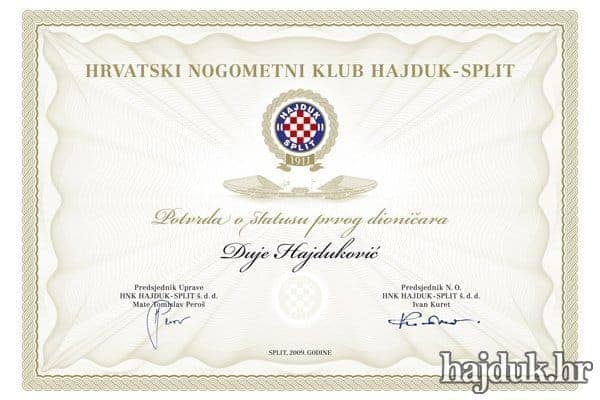 Glavna skupština dioničara Hajduka zakazana za subotu 6. srpnja