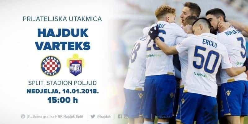 Hajduk ugošćuje Varteks u nedjelju 14. siječnja