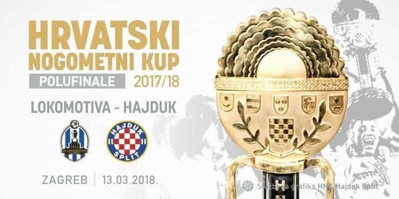 Ponovno promijenjen termin polufinalnog kup okršaja Lokomotive i Hajduka