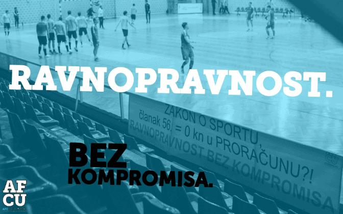 AFC Universitas Split: Zahtijevamo ravnopravnost bez kompromisa
