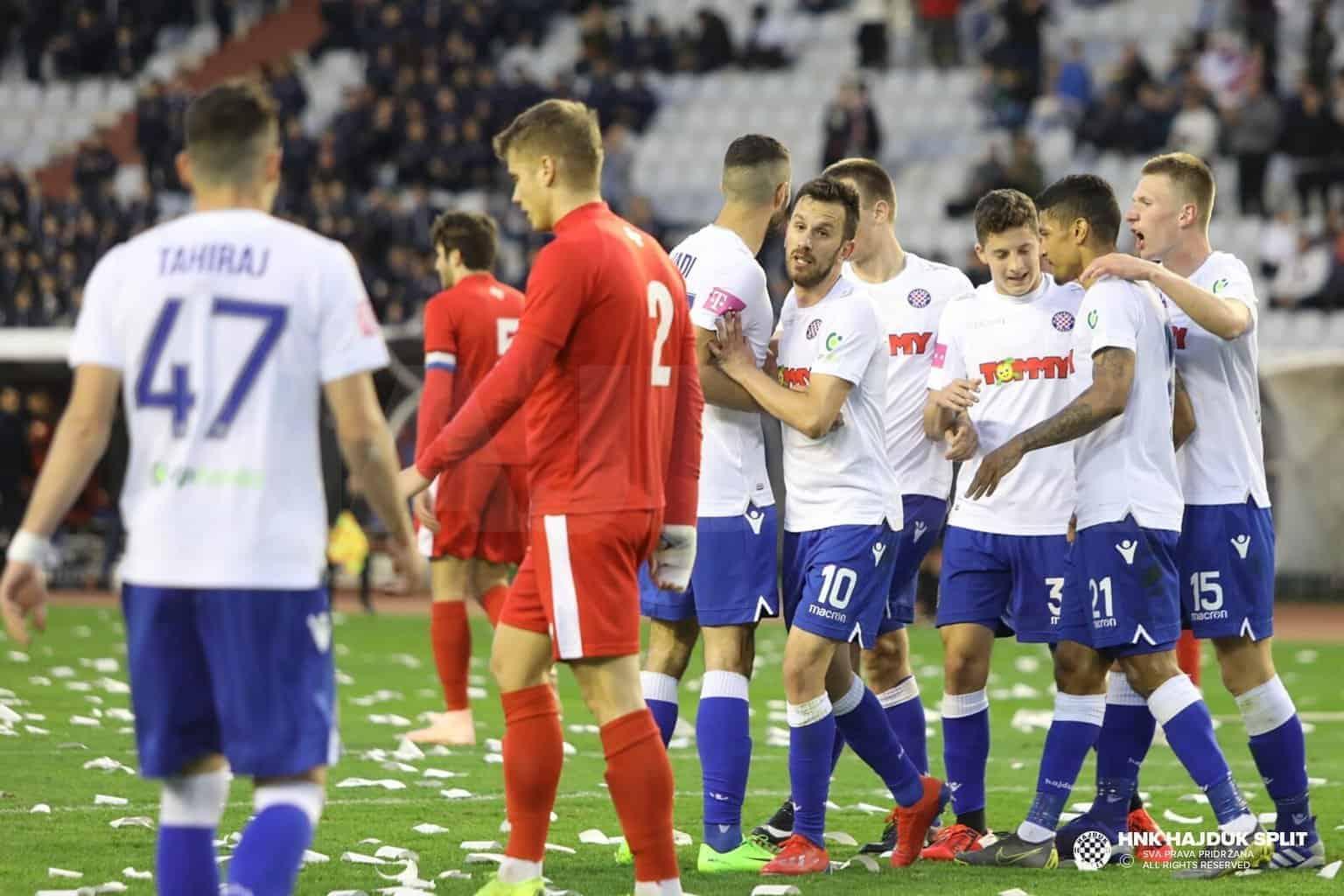 Uvjerljivo slavlje Hajduka protiv Rudeša VIDEO